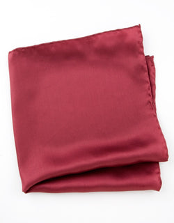 POCKET SQUARE - BURGUNDY