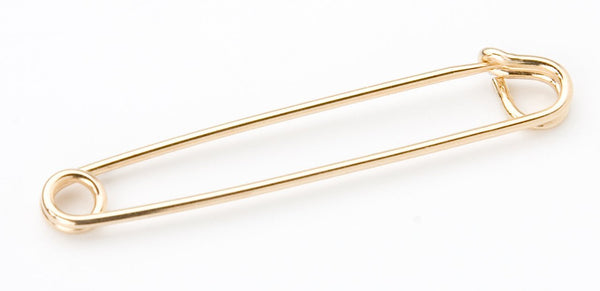 SAFETY PIN GOLD 2.25""