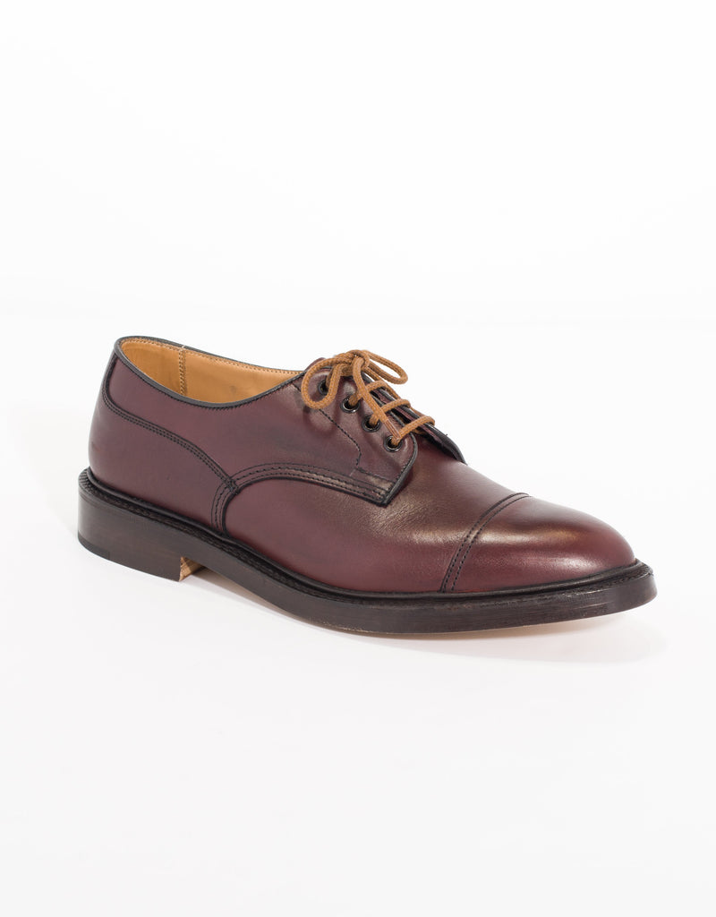 J.PRESS x TRICKER'S BURGUNDY SCOTCH GRAIN CAP TOE