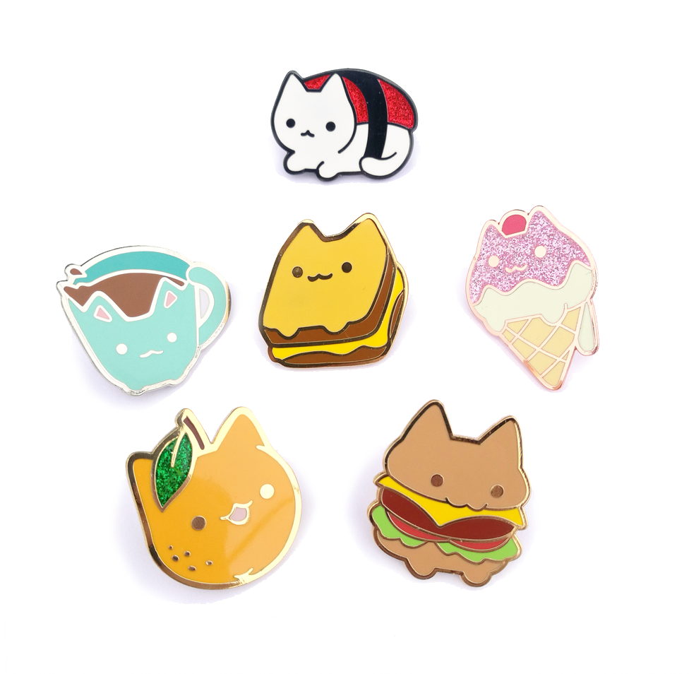 Grilled Cheese Cat Pin