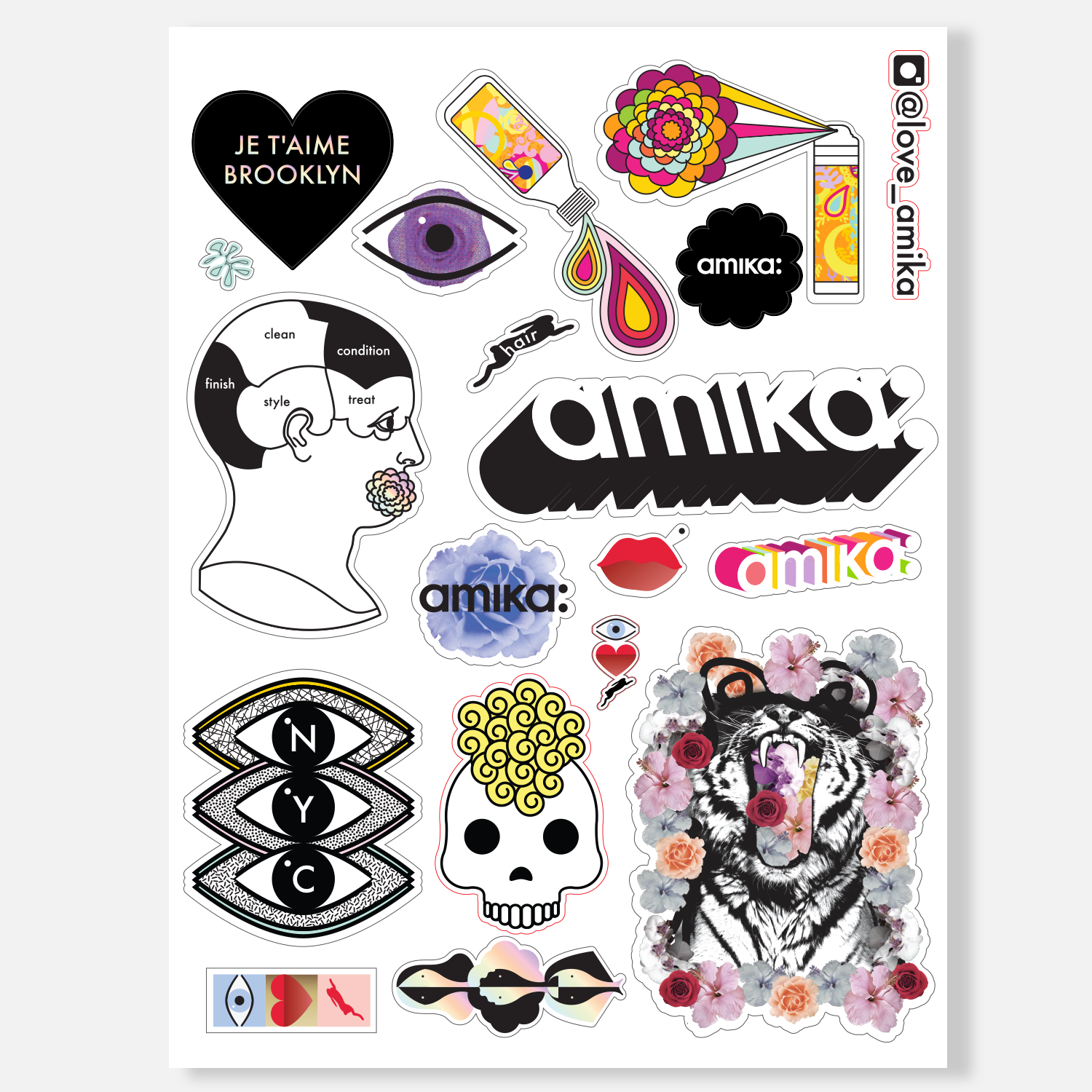 sticker sheet | amika