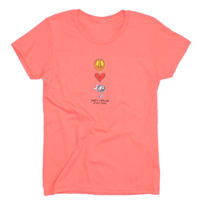 Ladies Peace, Love, Palmetto and Moon T-Shirt - ADI00973