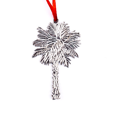 Pewter Palmetto Palm Ornament - GM01339