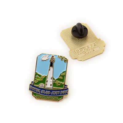 Hunting Island Lighthouse Lapel Pin - HISI0005228