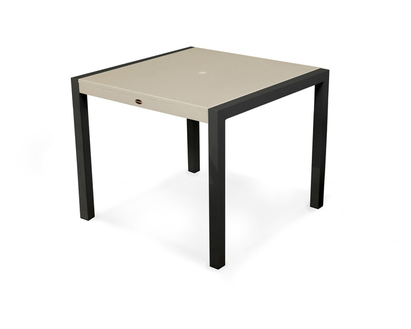 "8120-12MSA MOD SOLID 36"" Dining Table in Textured Black and Sand"