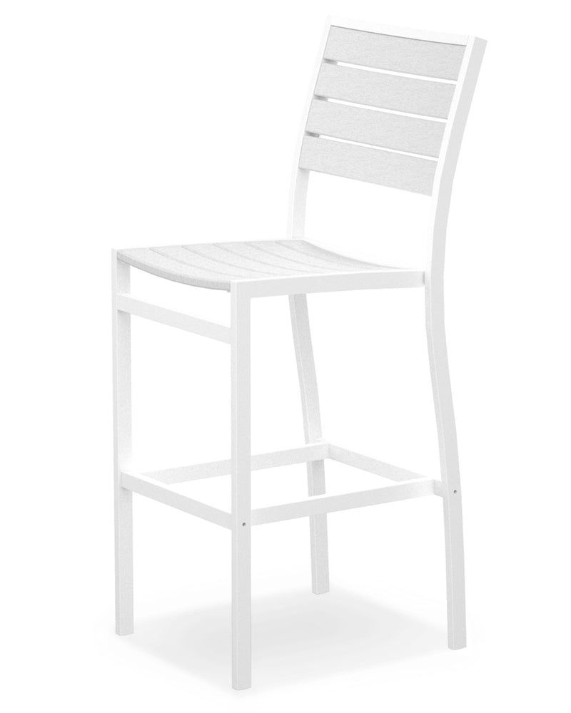 A102-13WH Euro Bar Side Chair in Satin White and White
