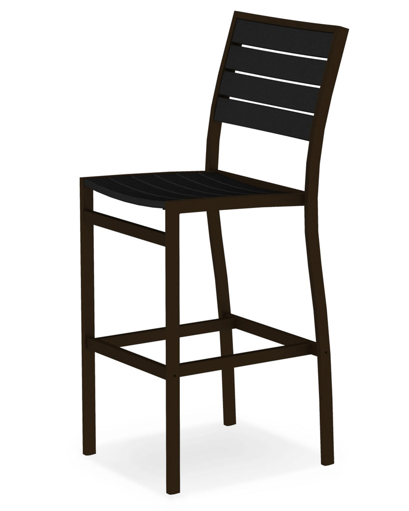 A102-16BL Euro Bar Side Chair in Textured Bronze and Black