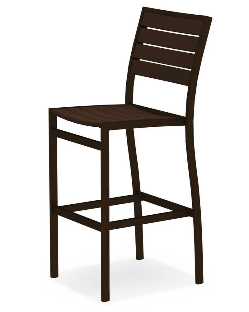 A102-16MA Euro Bar Side Chair in Textured Bronze and Mahogany