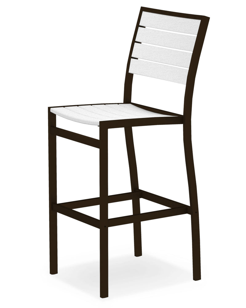A102-16WH Euro Bar Side Chair in Textured Bronze and White