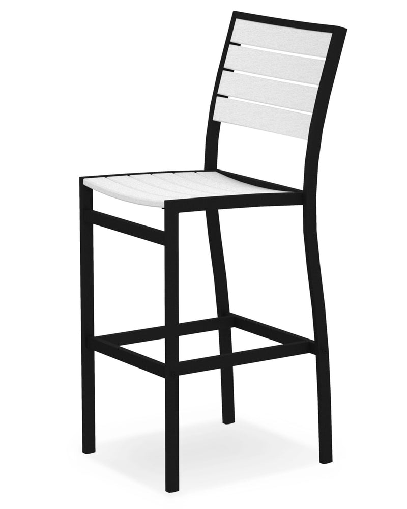 A102FABWH Euro Bar Side Chair in Textured Black and White