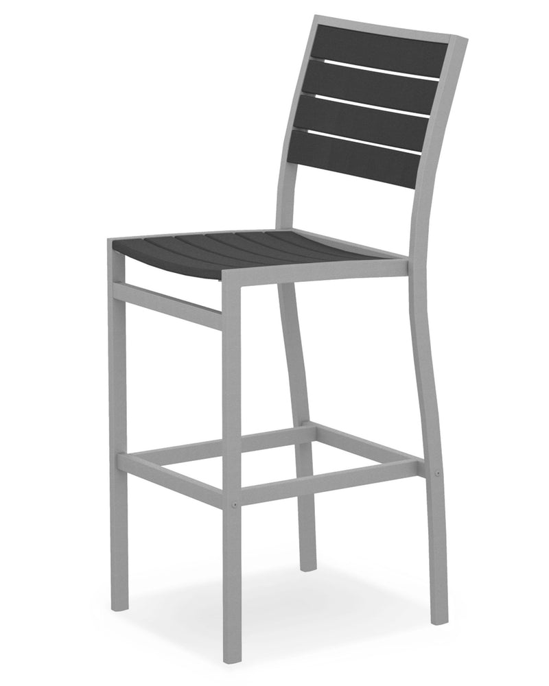 A102FASGY Euro Bar Side Chair in Textured Silver and Slate Grey