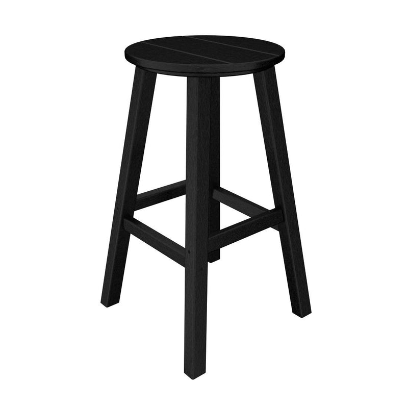 "BAR230BL Traditional 30"" Round Bar Stool in Black"