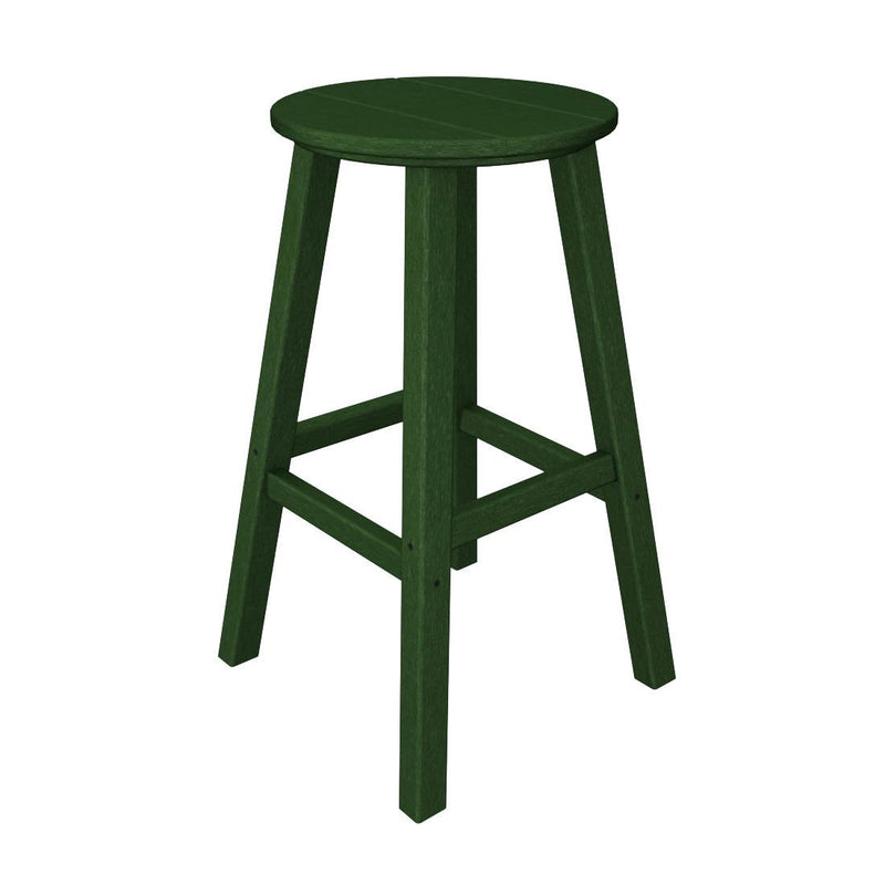 "BAR230GR Traditional 30"" Round Bar Stool in Green"