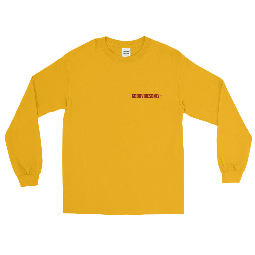 Gold & Maroon GoodVibesOnly+ Long Sleeve T-Shirt