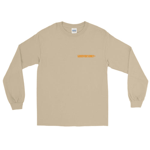 Cream & Orange GOODVIBESONLY+ Long Sleeve T-Shirt