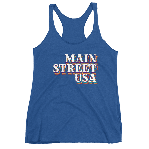 Main Street USA Retro Racerback Tank -3 color options