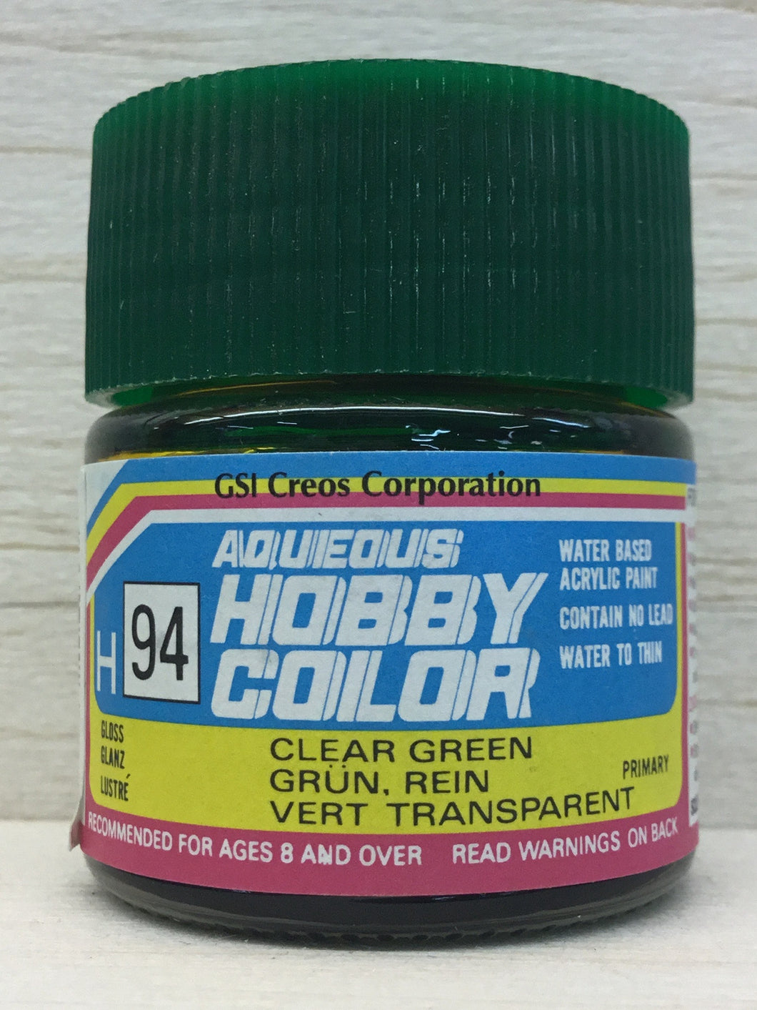 GUNZE MR HOBBY COLOR H94 GLOSS CLEAR GREEN