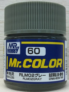 GUNZE MR COLOR C60 SEMI GLOSS RLM02 GRAY