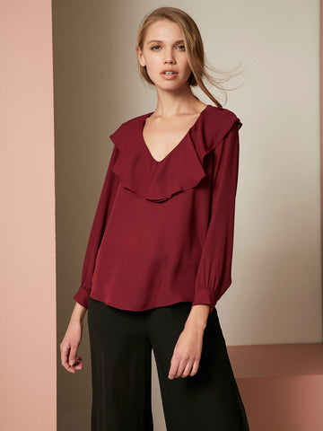 Rowen Long Sleeve Surplice