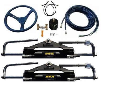 Twin Outboard Hydraulic steering kit