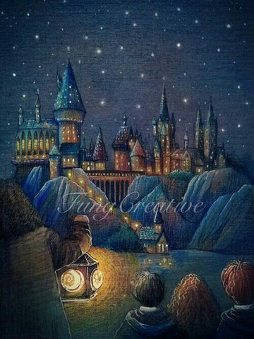 "5D DIY Diamond Painting Full Square Drill ""Harry Potter Hogwarts"" 3D Embroidery Cross Stitch Home Wall Art Decor gift Mosaic Crafts kit set-Hot Sale Products free ship to worldwide"
