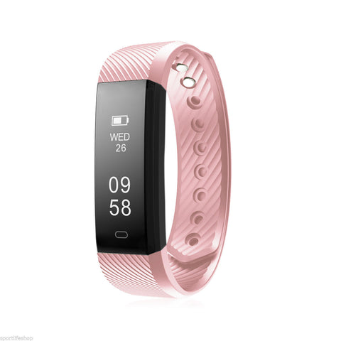 ID115HR Bluetooth Smart Bracelet the Fitness Tracker Heart Rate Monitor-Hot Sale Products free ship to worldwide