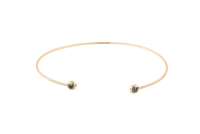 Blue or Black Diamond Bangle