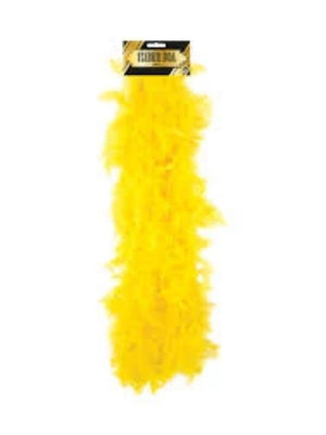 FEATHER BOA YELLOW