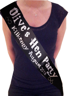Personalised Harry Potter Theme Hen Party Sash