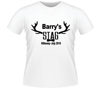 'Bow Tie' Personalised Stag T-shirt