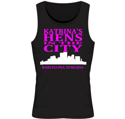 'Hens in the City' Personalised Hen Party Vest