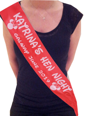 Minnie Mouse Personalised Hen Party Sash