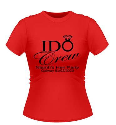 'I Do' Personalised Hen Party T-shirt