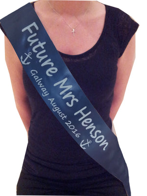 Personalised Sailor Themed Sash