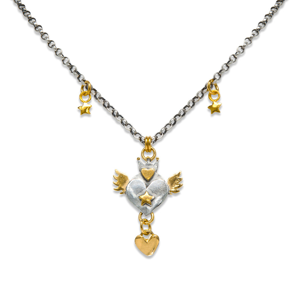 Crowned Heart Necklace