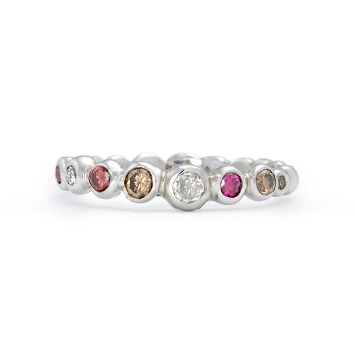 Multi-Coloured Diamond Tutti Frutti Ring