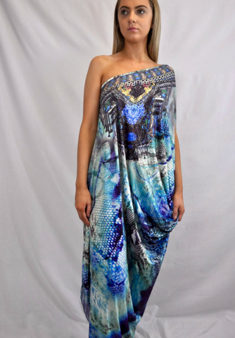 Seaside One Shoulder Maxi Dress - My Bargains Boutique