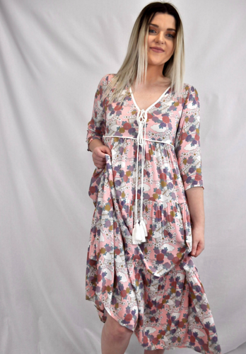 Cherry Blossom Midi Dress - My Bargains Boutique
