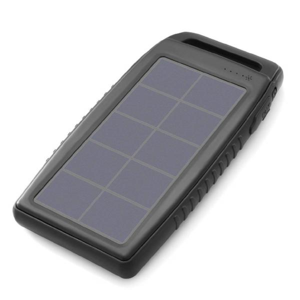 Nekteck 10000mAh Solar Battery Power Bank; Rain, Dirt and Shock proof Dual USB Port for All USB Supported Devices