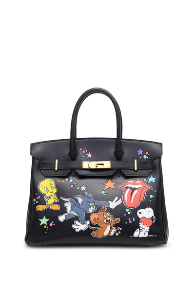 "Vintage Hermes Black ""Tom and Jerry"" Birkin Bag"