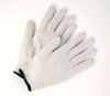 Poly/Cotton String Knit Gloves - Bleached White Sold by 12 pairs