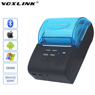 VOXLINK RS232/USB Ports 58mm Mini Wireless Bluetooth Thermal Receipt Printer Support ESC/P0S For IOS/Android Mobile Printer