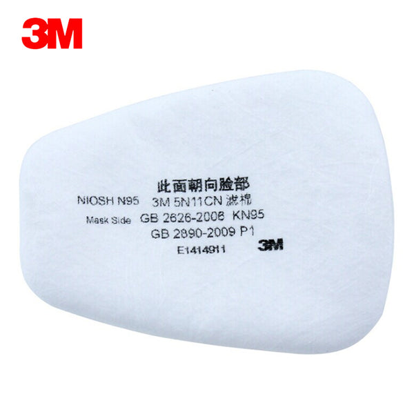 10pcs 3M 5N11CN Filter cotton Use with respirators 5000 series Mask and 3M 6000 Gas Mask Supporting  Dust Filter KN90