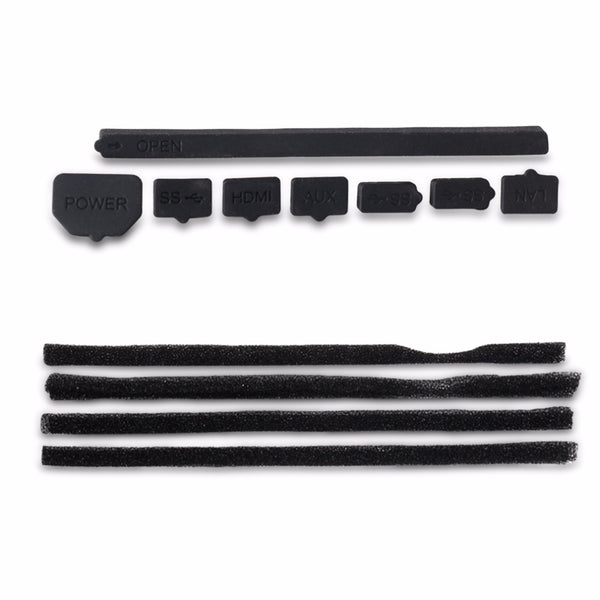 Dust-Proof Cover Filter Mesh Jack Stopper Pack Dustproof Kits Suitable For Playstation 4 Pro PS4 Slim Gaming Console Black