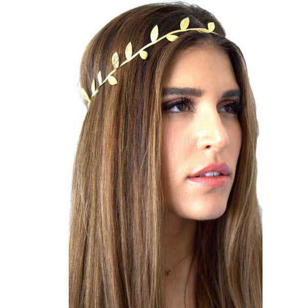 2017 Fashion Hairband Headbands For Women Crystal Alloy Hairbands gold sliver Bronzing Leaves Women Headband Hair Head Band