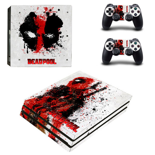 Dead Pool Vinyl Protective Skin Sticker for Playstation 4 Pro Cover Sticker for PS4 Pro Console+2 Controller Skins