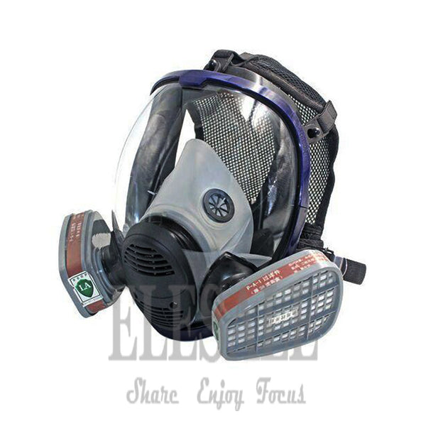 New Industrial 7-In-1 6800 Full Gas Mask Respirator With Filtering Cartridge For Painting Spraying Similar For 3M 6800