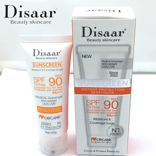 Disaar sunscreen sunblock cream SPA 90 PA+++ BEST instant Protection and coverage foundation