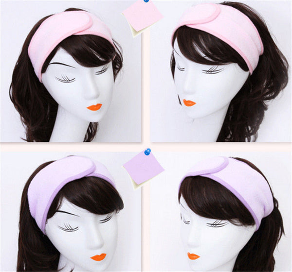 Wash Face Makeup SPA Womens Sweat Elastic Soft headbands Hair Band 3color New