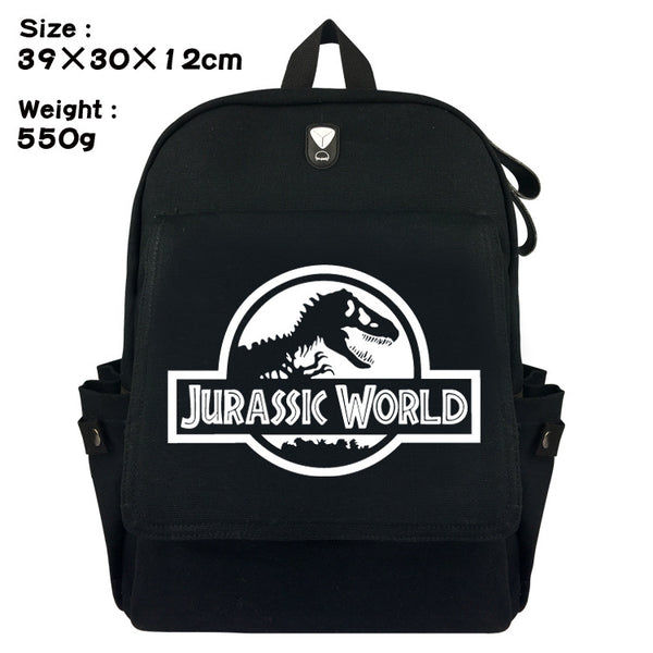 2018 Sale Special Offer No Mochilas School Mochila Feminina The Film Jurassic Park 2 World Bag Canvas Backpack Leisure Laptop